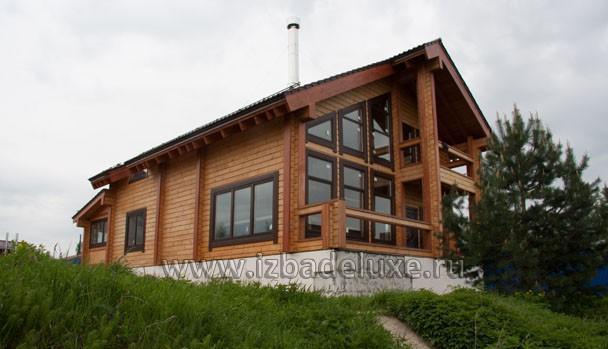 Строительство дома по проекту Зимняя сказка-3