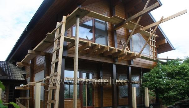 Строительство дома из клееного бруса по проекту «Марьина гора»