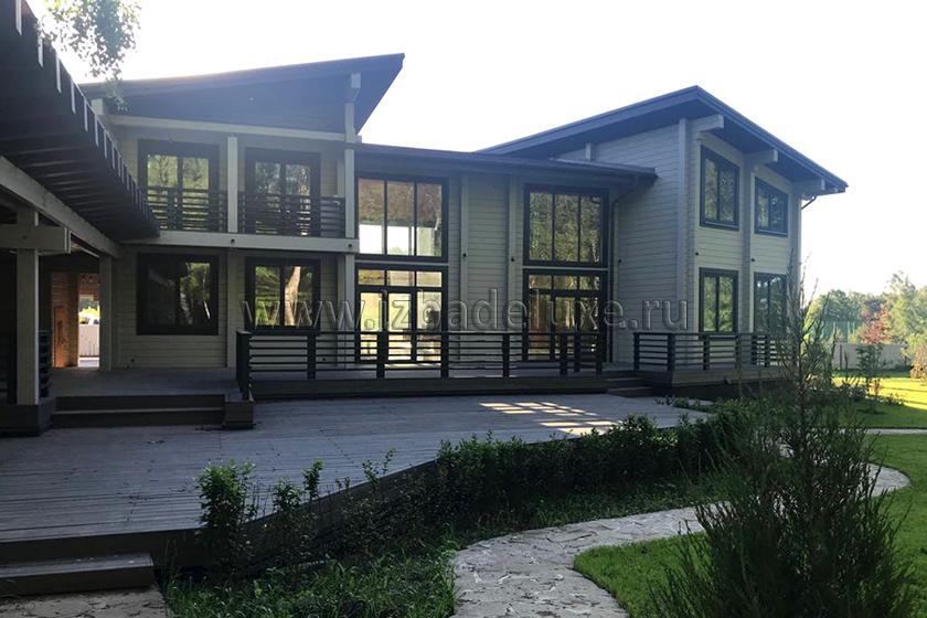 Строительство загородного дома по проекту Чеховская усадьба — 612,46кв.м