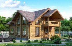 Проект дома из клееного бруса «Покров»