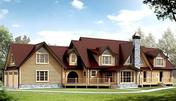 Дом из клееного бруса «Блафф Поинт»