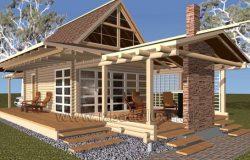 Проект дома из клееного бруса «Бунгало – 2»