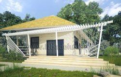 Гостевой домик-баня из клееного бруса «Фантазия»