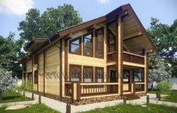 Дом из клееного бруса «Весенняя сказка»
