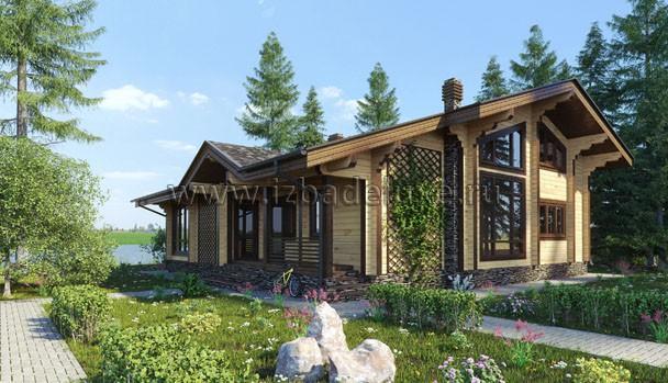 Проект деревянного дома из клееного бруса «Сосновый берег»