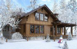 Современный дом из клееного «Аляска»
