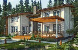 Проект дома из клееного бруса «Анжелика»