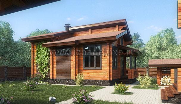 Проект дома-бани в Федоскино