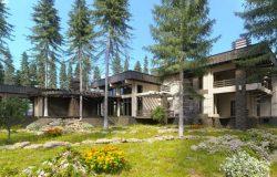 Загородная резиденция из кедра
