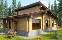 Одноэтажный дом из клееного бруса «Дом у большой воды»