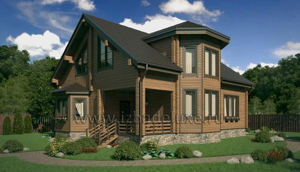 Проект дома из клееного бруса «Дом у озера»