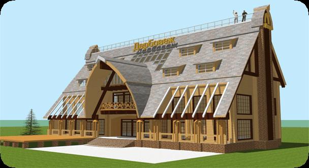 Строительство дома из клееного бруса «Простоквашино».