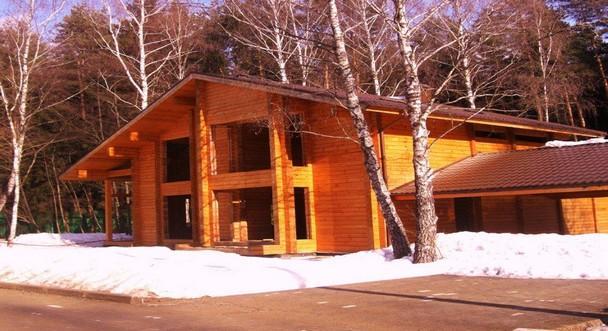 Дом из клееного бруса по проекту Жаворонки