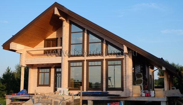 Строительство дома из клееного бруса «Лорелинка» (Зимняя сказка-14).