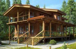 Проект дома из клееного бруса и кирпича «Николина Гора»
