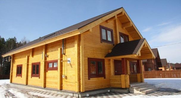 Дом из клееного бруса по проекту Покров
