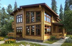 Проект двухэтажного семейного дома Полесье