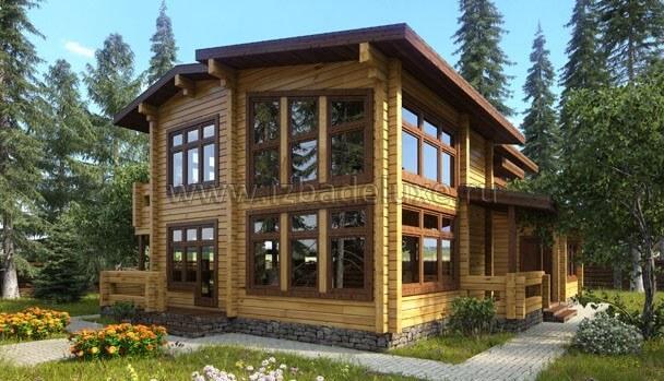 Дом из клееного бруса «Полесье»
