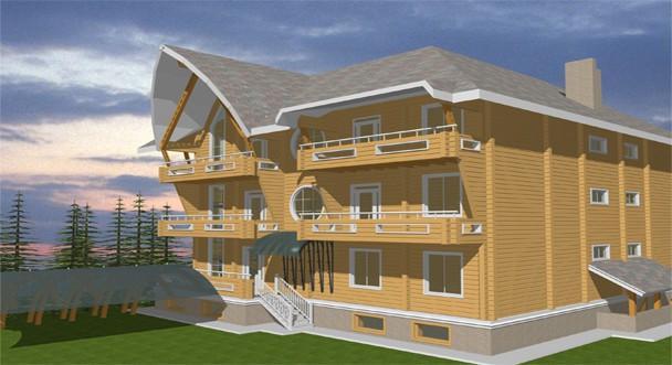 Проект частной гостиницы