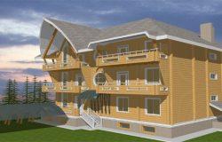 Частная гостиница, проект архитектора А. Головиной