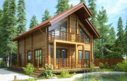 Проект дома из клееного бруса «Марьина Гора-2»