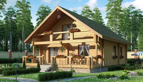 Проект дома из клееного бруса «Созвездие»