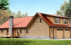 Проект дома из клееного бруса «Виндзор»