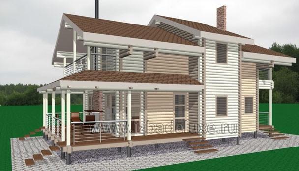 Проект дома из клееного бруса «Залив 100»