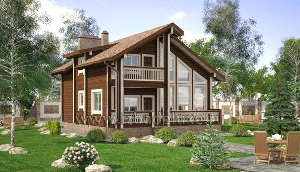 Проект дома из клееного бруса «Зимняя сказка»