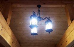 Установлены светильники в малых архитектурных формах.