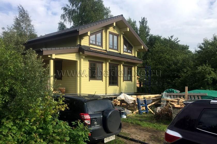 Строительство дома из клееного бруса «Летний Отдых».