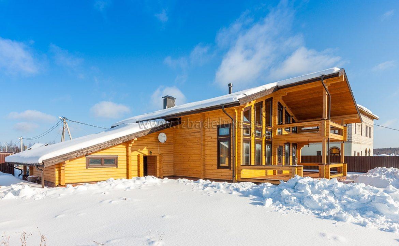 Cтроительство дома из комбинированного клееного бруса на объекте «Соколовское».