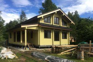 Завершена внешняя покраска дома из клееного бруса