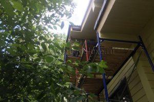 покраска дома из клееного бруса Летний Отдых