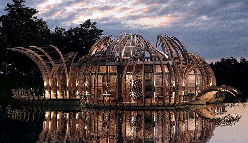 Проект дома «Лотос на водохранилище»