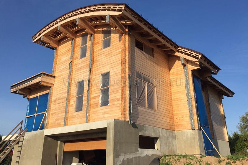 Строительство дома из клееного бруса «Неман»