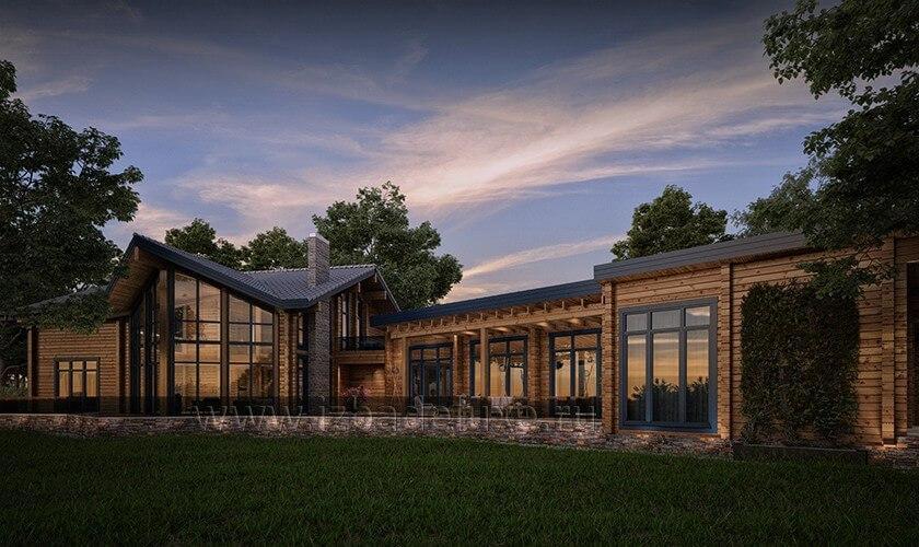 Дом по индивидуальному проекту «Лесной ручей».