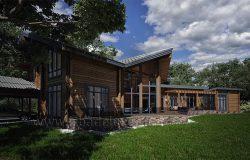 Дом по индивидуальному проекту «Лесной ручей»