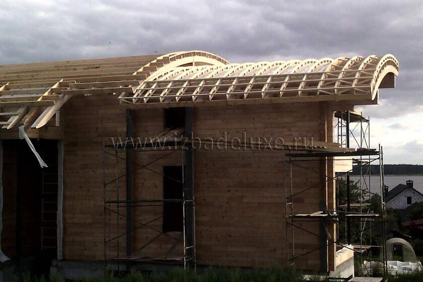 Строительство дома из клееного бруса «Неман».