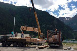 строительство дома из клееного бруса по проекту «Эльбрус» в Кабардино-Балкарской Республике