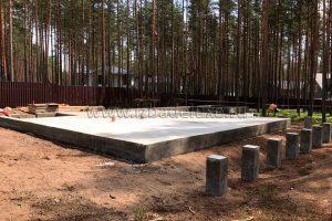 В Ленинградской области завершены работы по устройству монолитной плиты перекрытия