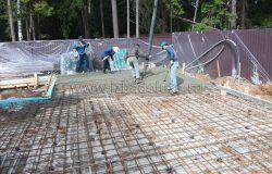 Льем плиту. Сложный процесс разгона бетона.