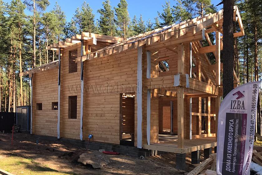 Строительство дома по проекту «Капитан» в Ленинградской области.