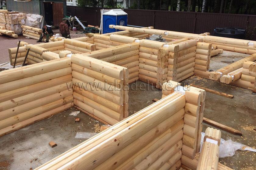 Строительство бани из клееного бревна в Ногинском районе.