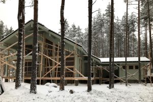 Завершена внешняя покраска дома на объекте «Капитан» (измененный проект Зимняя сказка-17).