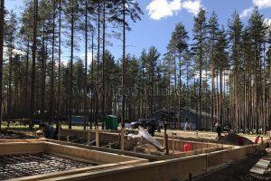 Строительство дома по проекту Капитан в Ленинградской области.