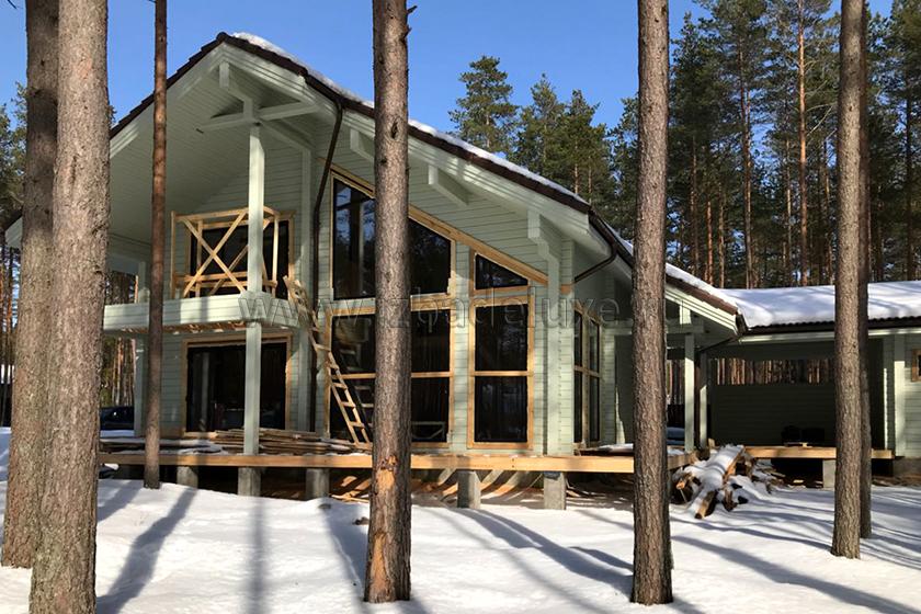 Строительство дома по проекту «Капитан» в Ленинградской области