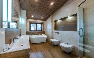 Фотографии интерьера и экстерьера загородного дома из клееного бруса «Климента».