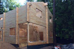 На объекте Баня в Ватутинках в Новой Москве завершена сборка домокомплекта
