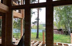 Будущая гостиная с панорамными окнами.
